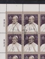 ALLEMAGNE DDR 1990:  Le Pape Jean-Paul II, Feuille Entière D'oblitérés PJ (50 Timbres) - Christendom