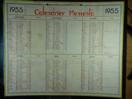 Calendrier Memento 1955 Sur Carton 2 Faces (Format : 42,5 Cm X 34,5 Cm) - Calendarios