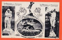 Nw6099 TOULOUSE Sculptures RETOUR Par SEYSSES Jardin Plantes / REVEIL MORPHEE Par LAPORTE / MERCURE MOÏSE Par LABATUT - Toulouse
