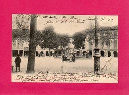 81 Tarn, L'Isle Sur Tarn, La Grande Place, Animée, Enfants, Commerces, 1903, (Labouche) - Lisle Sur Tarn