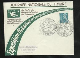Lettre Illustrée Société Philatélique Chatillon Le 10/10/1943 N° 549  Cachet Illustré Journée Du Timbre B/TB Soldé ! ! ! - ....-1949
