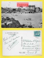 CPSM 44 - Loire Atlantique ֎ SAINT MARC Sur MER ֎ La Plage Et L Hotel ֎ 1952 - France