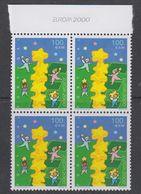 "Europa Cept 2000 Azores 1v Bl Of 4 ""Europa 2000 In Margin"" ** Mnh (42272) - Europa-CEPT"