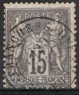 FRANCE - 1876 - YT N° 77 - Oblitéré - Sage  N/U - 1876-1878 Sage (Type I)