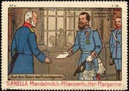 Kleve: Aus Dem Leben Des Prinzregenten : Überbringt In Versailles Wilhelm I. Den Brief Ludwig II. Der Fernem Die Kaiserw - Vignetten (Erinnophilie)