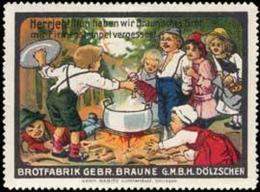 Solingen: Herrjeh! Nun Haben Wir Braunsches Brot Mit Firmenstempel Vergessen! Reklamemarke - Cinderellas