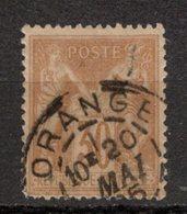 FRANCE - 1876 - YT N° 80 - Oblitéré - Sage  N/U - 1876-1878 Sage (Type I)