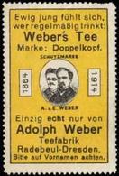 Radebeul, Dresden: Webers Tee Marke: Doppelkopf Reklamemarke - Cinderellas