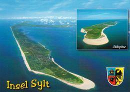 1 AK Germany / Schleswig-Holstein * Blick Auf Die Insel Sylt – Mit Der Südspitze Luftbildaufnahme * - Sylt