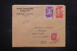 SUISSE - Taxe De Genève Sur Enveloppe Commerciale De Monaco En 1951 - L 26570 - Postmark Collection