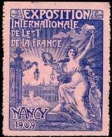 Nancy: Exposition Internationale De Lest De La France Reklamemarke - Erinofilia