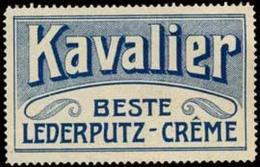 Augsburg: Kavalier Lederputz Creme Reklamemarke - Cinderellas