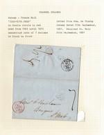 JERSEY FRANCE ST MALO 1851 SPECIAL CHANNEL ISLANDS POSTMARK DE GRUCHY - Jersey