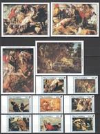 U389 GAMBIA ART PAINTINGS RUBENS #1081-1088 MICHEL 44 EURO 1SET+4BL MNH - Rubens