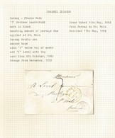 JERSEY FRANCE ST MALO MARITIME 1854 GOOD POSTMARKS - Jersey