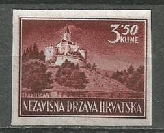 Croatia,NDH,Landscapes 3.50 Kn 1943.,imperforated-pelir,MNH - Kroatië