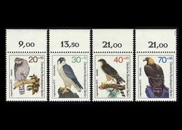 Berlin 1973, Michel-Nr. 442 - 445, Jugend 1973, Greifvögel, Bogenrand Oben, Postfrisch - Ungebraucht