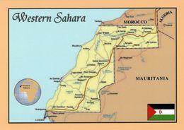 1 MAP Of Western Sahara* 1 Ansichtskarte Mit Der Landkarte Von West Sahara * - Landkarten