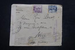 ESPAGNE - Enveloppe De Sévilla  Via Madrid Pour La France En 1941 Avec Contrôles Postaux - L 26577 - Marcas De Censura Nacional