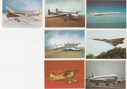 CHOCOLAT POULAIN - LOT DE 7 IMAGES SERIE 9 CONNAISSANCE DE L' AVIATION CONCORDE MIRAGE 4 BOEING 707 - Oude Documenten