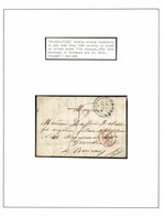 GUERNSEY MARITIME ST MALO FRANCE BORDEAUX DE SAUSMAREZ 1850 TO 1853 - Guernsey
