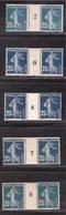 SEMEUSE MILLESIMES N°140 25c Bleu - Millesimes