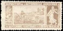 Bourges/Frankreich: Exposition De L'Automobile Agricole Reklamemarke - Erinofilia