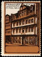 Frankfurt/Main: Johann Wolfgang Von Goethe Geburtshaus Reklamemarke - Cinderellas