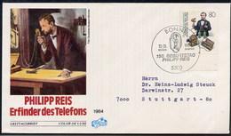 ERMANIA - FDC 1984 - PHILIPP REIS  -  TELEFONS   ORECCHIO  LOBO - FDC: Buste