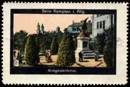Kempten: Kriegerdenkmal Reklamemarke - Cinderellas
