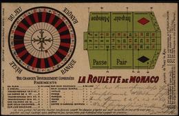 Ansichtskarte Monaco Spielkasino Roulette Nach Paderborn 1904 - Ansichtskarten