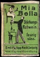 Leipzig: Mia Bella Stärkungsrotwein Reklamemarke - Cinderellas