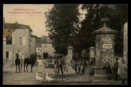 55 - Stainville - Ancerville La Gendarmerie Et L'entrée Du Château Meuse Chevaux Velo Oie Hommes Gamins #01734 - France