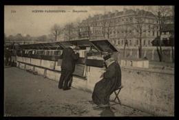 75 - Paris Scenes Parisiennes Bouquiniste Musique Neuve Et D'occasion #01412 - Artigianato Di Parigi