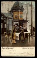 75 - Paris Pittoresque Marchande De Journaux Pub Vichy Iochum Carte 1902 #01401 - Artigianato Di Parigi