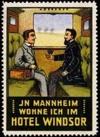 Mannheim: Hotel Windsor Reklamemarke - Erinnofilia