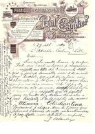 Facture Fabrique De Cdrans D'émail à Besançon ( Doubs ) En 1924 - France
