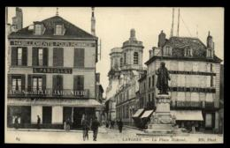 52 - Langres La Place Diderot L. Parcollet Belle Jardinière Au Bon Marché Plumes Laines #00991 - Langres