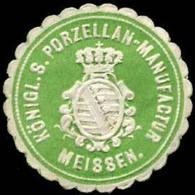 Meissen: Königl. S. Porzellan-Manufactur Meißen KPM Siegelmarke - Cinderellas
