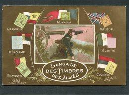 CPA - Langage Des Timbres Des Alliés - Guerre 1914-18