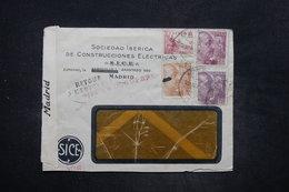 ESPAGNE - Enveloppe Commerciale De Madrid Pour La France En 1940 Et Retour ( Zone Occupée) , Contrôles Postaux - L 26588 - Marcas De Censura Nacional