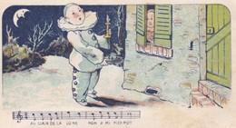 Partition Au Clair De La Lune En Tête Feuille Papier à Lettre 4 P. 10.5 X 13.5 Avec Son Enveloppe Mignonnette 11 X 7.5 - Partitions Musicales Anciennes