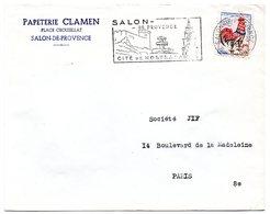 CHATEAU = 13 SALON De PROVENCE 1963 = FLAMME Non Codée = SECAP  Illustrée 'cité De NOSTRADAMUS  ' - Storia Postale