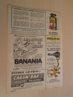 SPI19 SPIROU ANNEES 50/60 1 PAGE : PUBLICITE JOUETS BANANIA + CARAMBAR + MARSUPILAMI - Figurines