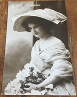 Love's Awakening ~ Edwardian Photo Postcard - Women