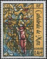FRANCE Poste 3498 ** Tableau Vitrail Marc CHAGALL Cathédrale Metz : Eve Et Le Serpent, La Création - France