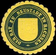 Neustadt/Sachsen: Der Rat Zu Neustadt In Sachsen Siegelmarke - Cinderellas