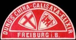 Freiburg/Breisgau: Dungs China-Calisaya-Elixir Freiburg/Breisgau Reklamemarke - Cinderellas
