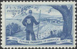 1953 USA Future Farmers 25th Anniversary Stamp Sc#1024 Farm FFA - Agriculture