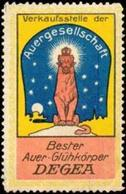 Berlin: Degea Glühkörper Reklamemarke - Erinnofilia